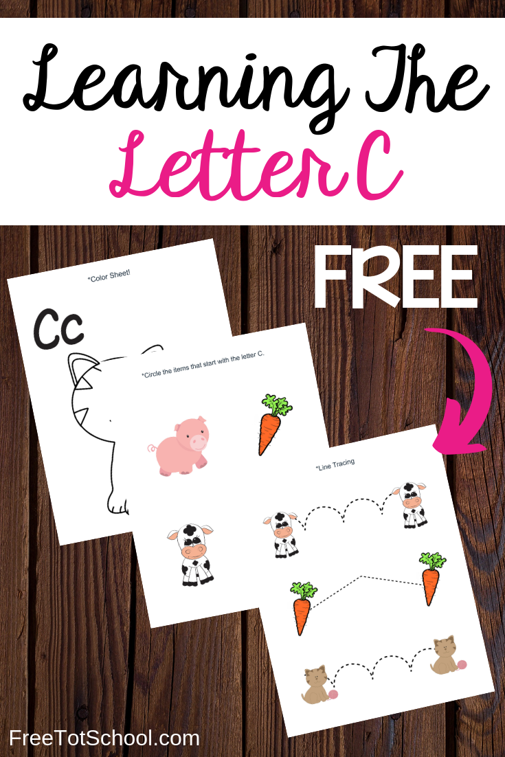 Free letter C worksheets, great addition to letter of the week activities!
