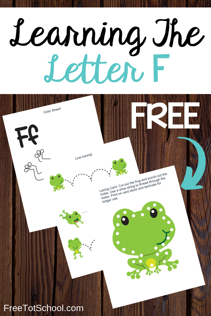 Free letter F worksheets! Great for letter of the week activities!