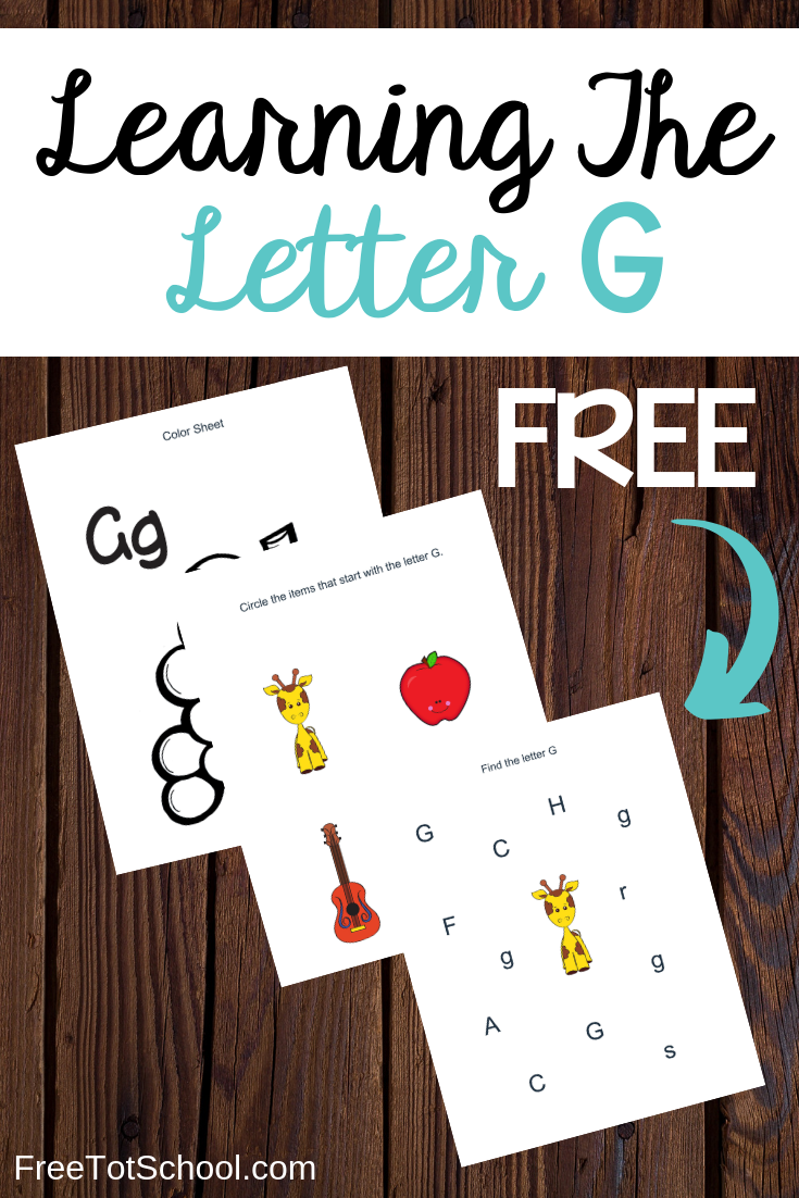 Free letter G worksheets! Great for letter of the week activities.