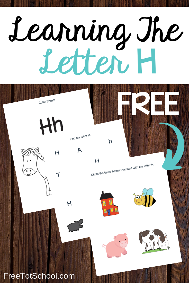 Learning the letter H worksheets, great for letter of the week activities!