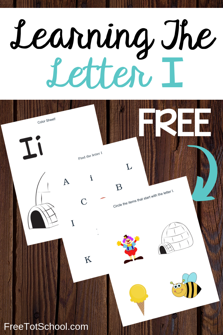 Learn the letter I with these free printable worksheets. Great for letter of the week activities!