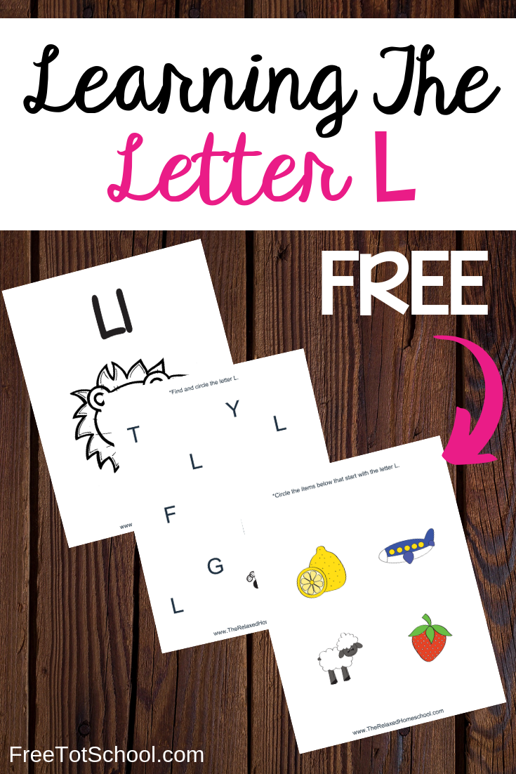 Free Letter L activities and worksheets! Great for letter of the week!