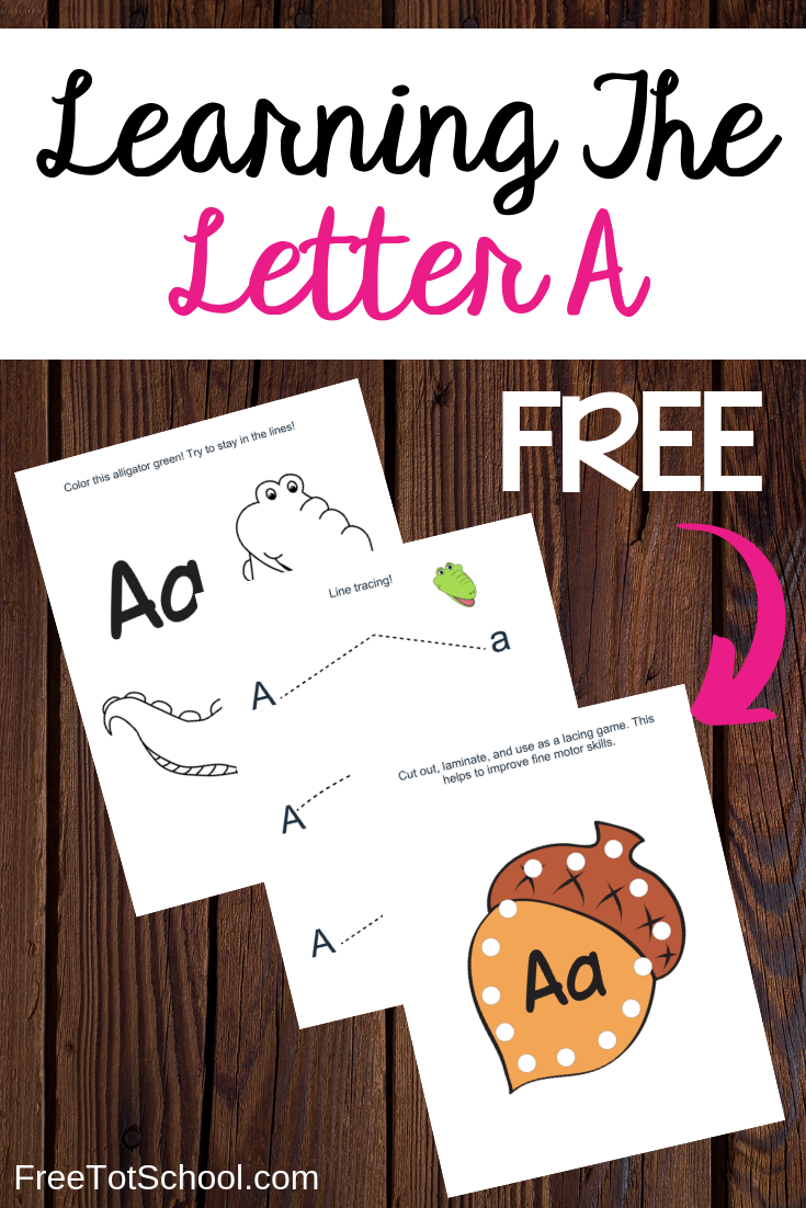 Letter of the week! Learn the letter A with this fun lesson plan and free printable worksheets.